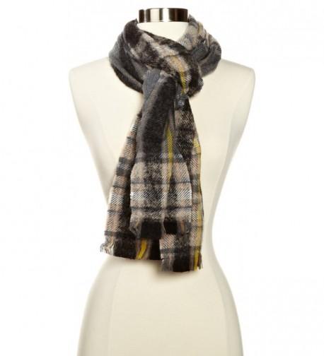 Echo Women's M-Soft Boucle Plaid Woven Scarf - Black - CM11ESB54O1