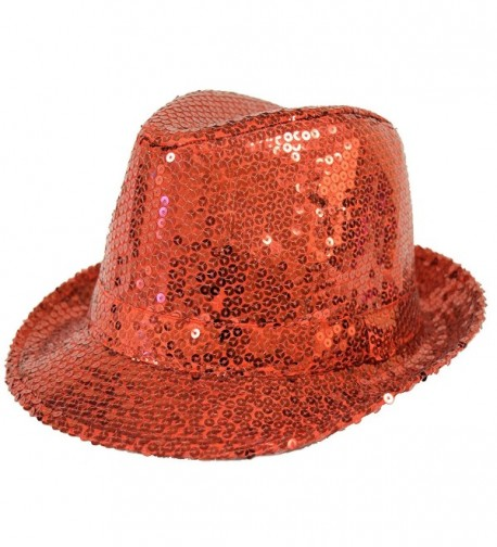 Sequin Covered Fedora / Red / Red Hat Lady Society - CX112RT20PH
