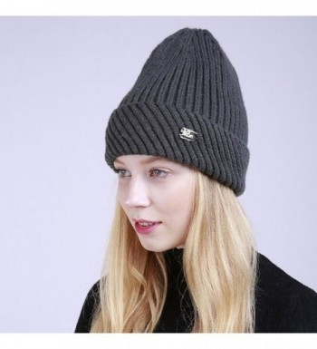 Hunputa Womens Winter Crochet Beanie in Women's Skullies & Beanies