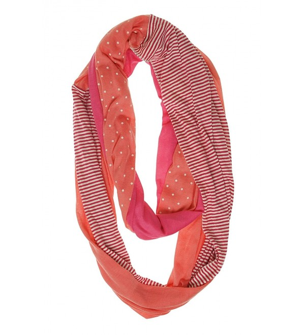 Collection XIIX Women's Patched Jersey Infinity Loop Scarf - Orange - C712G3OZIUF