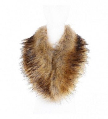 Soul Young Faux Fur Collar Women's Neck Warmer Scarf Wrap - Nature - CR12LH33EGH