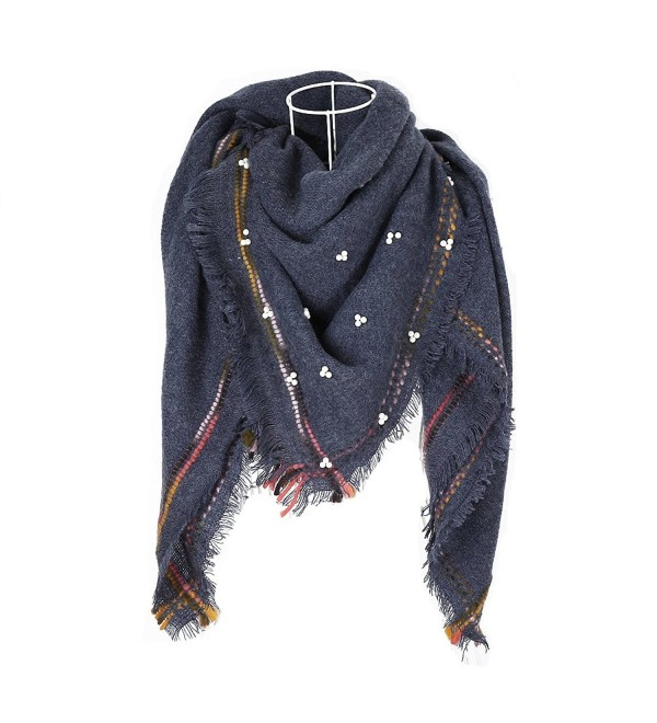 Women's Stylish Warm Blanket Scarf Gorgeous Wrap Shawl - Dark Gray - CX187DNC5SQ