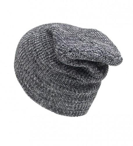 Perman Unisex Winter Warm Knit Crochet Ski Hat Braided Turban Headdress Caps - Black - CM12N5T71OW