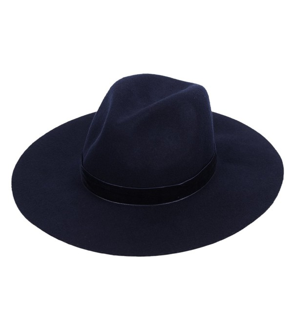 2f8e84c6f9bd46 Wool Fedora Hat Felt Panama Women's Crushable Fashion Style With Wide Brim  Chic Band - CS1864DQ4UC