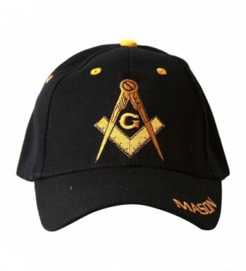 Free Mason Symbol Hat Logo - Yellow and Black - C91104RGB81