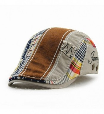 Unisex Cotton Herringbone Duckbill Newsboy
