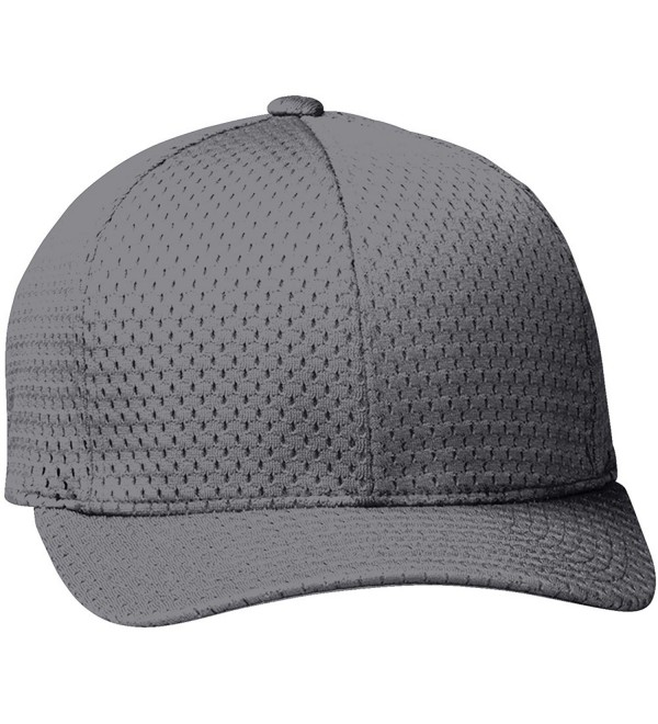 Yupoong Athletic 6-Panel Structured Mesh Cap - Silver - CG114I9SVVV