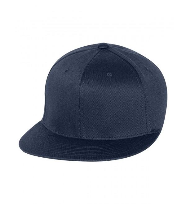 Yupoong Flexfit Wooly Twill Pro Baseball Cap On-Field Shape 6297F - Navy - C61124GGBZD