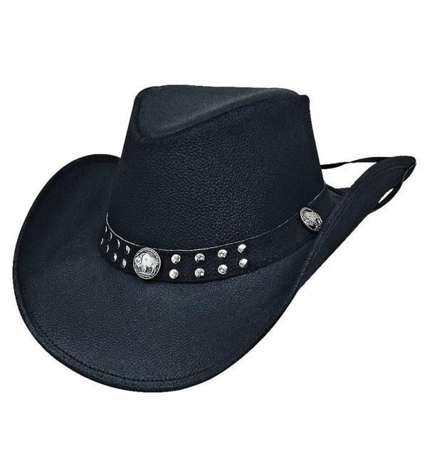 Montecarlo Bullhide Hats ALSTON Leather Western Cowboy Hat - CI11L1OW52H