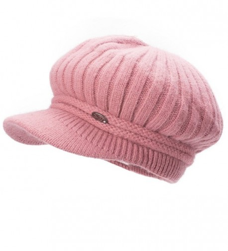Lawliet Womens Angora Knit Ribbed Beanie Cabbie Cap Hat Winter Warm A478 - Pink - C3188IY0DSW