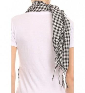 AN1225 Fashion Plaid Scarf Frills in Fashion Scarves