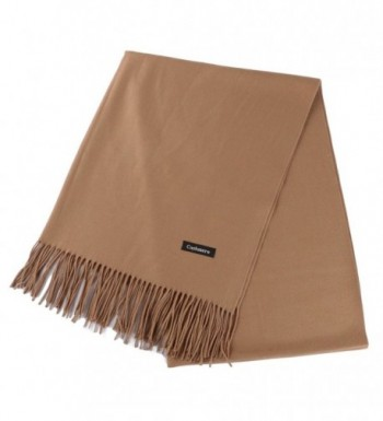 Fani Large Fashionable Cashmere Scarf Soft Silky Warm Wool Shawl Winter Wrap for Women Ladies Gift - Camel - CO1803YXH9C