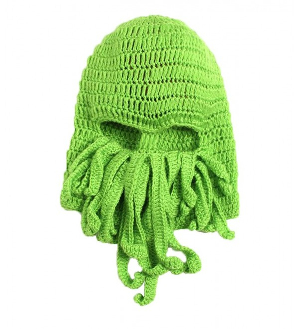 85cc5398b LOCOMO Tentacle Octopus Cthulhu Knit Beanie Hat Cap Wind Ski Mask  FFH135DBLU Green CY11KCIMON3