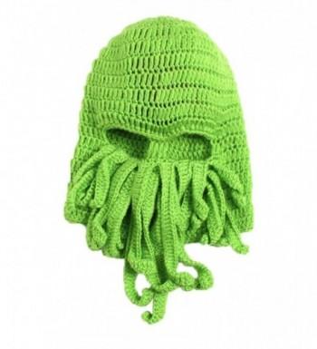 LOCOMO Tentacle Octopus Cthulhu Knit Beanie Hat Cap Wind Ski Mask FFH135DBLU - Green - CY11KCIMON3