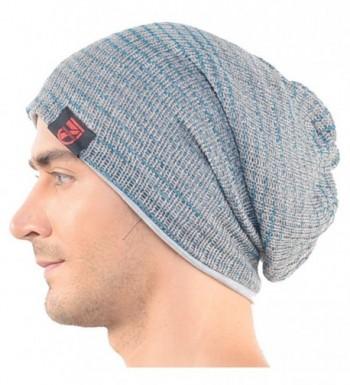 Mens Slouchy Beanie Hat Winter Knit Skullcap Gray B0724 - CF11NEO8BFH
