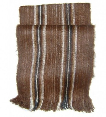 Gamboa Rustic 100% Alpaca Scarf Incredibly Warm - Brown with Andean Design - Brown - CU1267Y9N3J