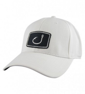 Avid Men's Fitted Fishing Hat - White - CI11R8TRRZT