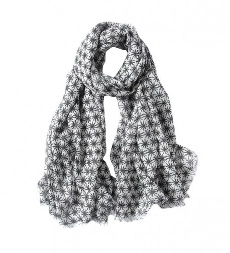 MaaMgic Womens Winter Long Polka Dot Scarf Ladies Warm Soft Pashmina Wrap - Black - CM185L4LL2T