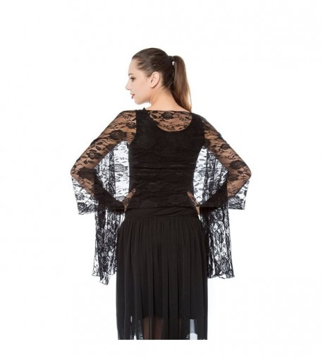 Women Lightweight Rose Lace Shawl- Gzcvba Bridal Evening Party Wrap Scarf - Black - CY1878OE9OH