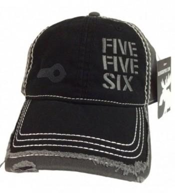 BlvdNorth Five Five Six Ar-15 Hat/Cap Black/Grey Distressed 5.56 2.23 - Black/Grey - CA12BHM4DBN