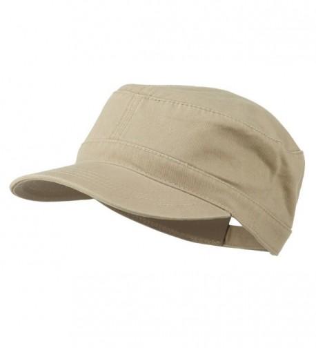 Garment Washed Adjustable Army Cap - Charcoal Grey - Khaki - CY11UU76EK5