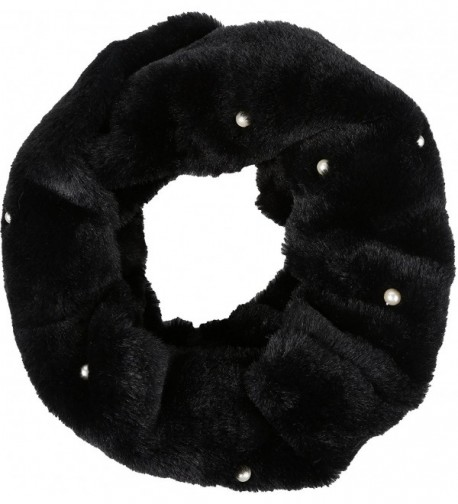 Sakkas Ester Super Soft Faux Fur Mink Infinity Scarf Casual and Effortless - Yc16104-black - CH187KTOXHW