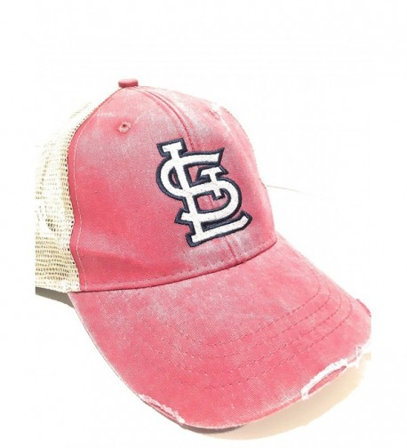 Mary's Monograms STL Monogrammed Cardinals Trucker Hat Red - CO17Z3MHKOH