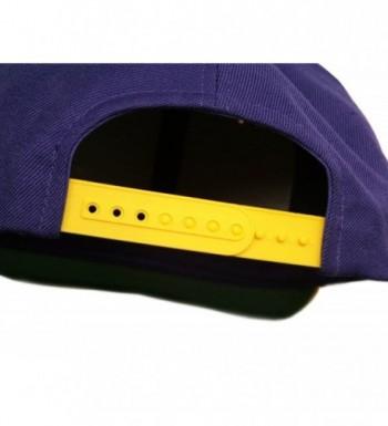 1264e3fdf Original Yupoong Two-Tone Pro-Style Wool Blend Snapback Snap Back Blank Hat  Baseball Cap 6098MT Purple / Gold CZ1181RD1VL