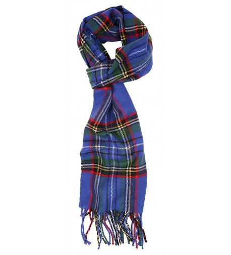 Love Lakeside-Women's Cashmere Feel Winter Plaid Scarf (One- Blue Stewart) - C312DFUPRLP