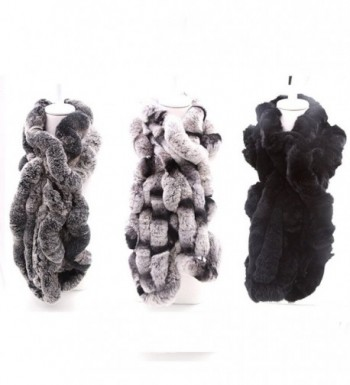 MMFur Natural Rabbit Women Scarf in Fashion Scarves