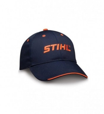 STIHL Navy Fabric Baseball Hat / Cap with Orange Embroidered STIHL logo - CP12JJ6SJEB
