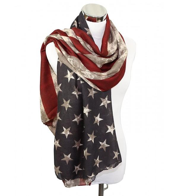 REINDEAR Premium American Flag Scarf US SELLER - Vintage Long - CQ121F4LMNZ