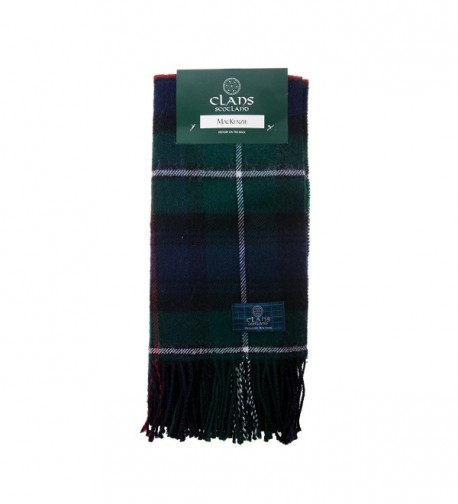Clans Of Scotland Pure New Wool Scottish Tartan Scarf Mackenzie (One Size) - C2123H44TC7