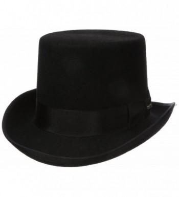 Scala Men's Wool Felt Topper Hat - Black - CR112HBE2SN