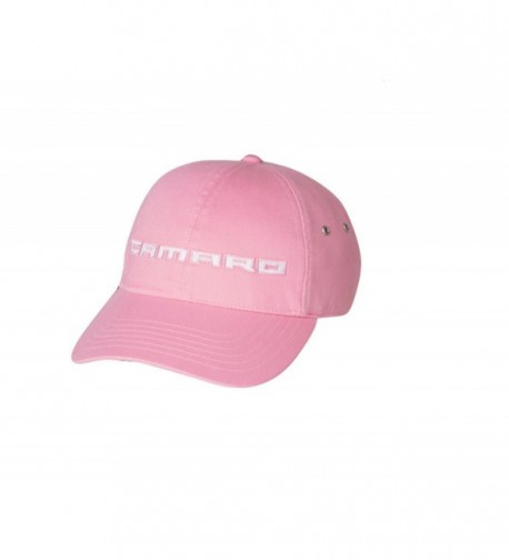 Chevy Camaro Script Pink w/ White Embroidery Hat - CK17YIXDRT7