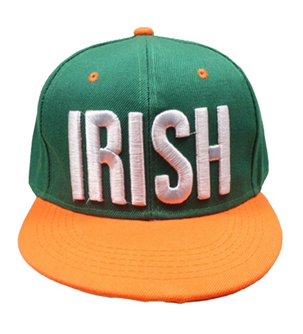 XtraFly Apparel St Patricks Day Irish Ireland Pride Green Vintage Snapback Hat Cap 3D - CU17Y9AW2OG