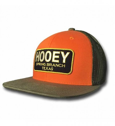 "Hooey ""Hometown"" Orange and Green Trucker Cap - C517YYTZ95A"