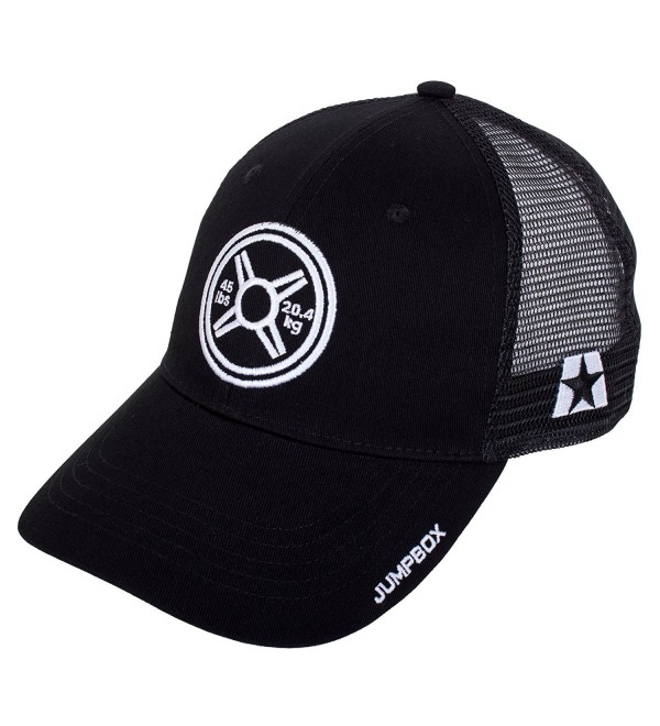 d798a8623d46d Heavy Metal Weightlifting Plate - Gym Workout Black Curved Bill Snapback Trucker  Hat - CP186I5ZEQK