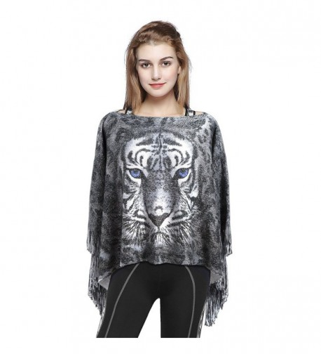 Christmas Printed Scarf Double Side Wrap Scarves Polyester Cashmere Wool Warm Shawl for Winter - Silver - CY187K6XSXK