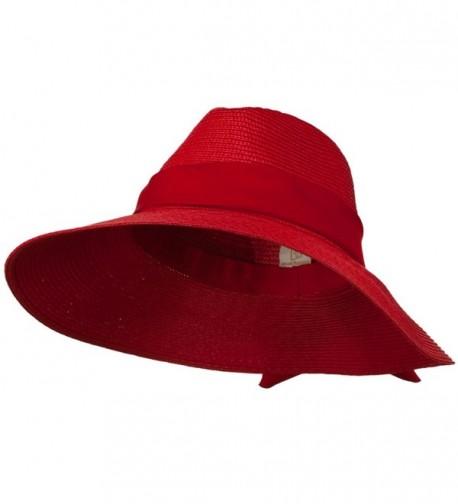 Polypropylene Braid Panama Hat - Red - CR11GZAJUKV