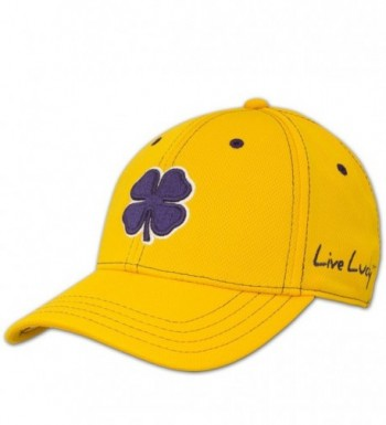 Black Clover Womens Gold With Purple Clover Rope Lucky Baseball Hat - Gold Purple - C711TB98AX1