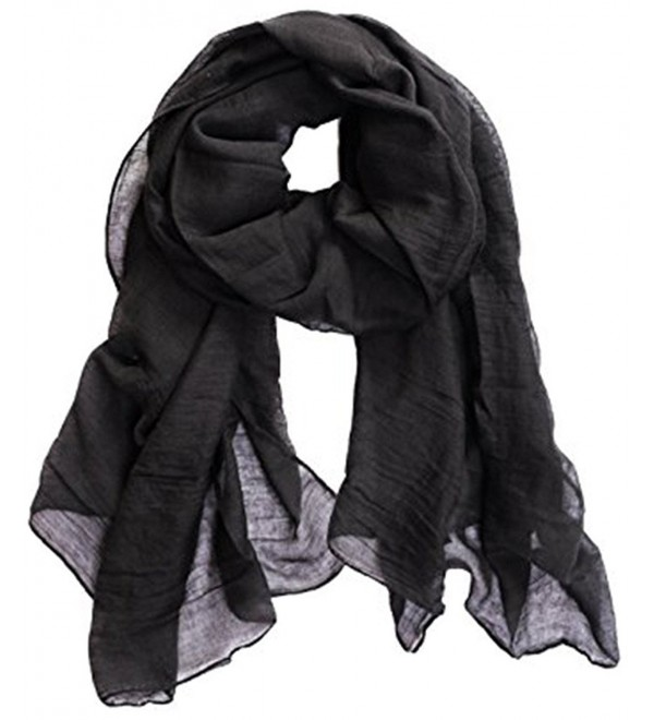 """MEYKISS Cotton and Wool Blended Long Scarf 70.87"""" x 39.37"""" - Color 1 - CU17X6X205Z"""