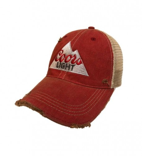 Coors Light Brewing Company Retro Brand Vintage Mesh Beer Adjustable Hat Cap - CK17YLU9E9A