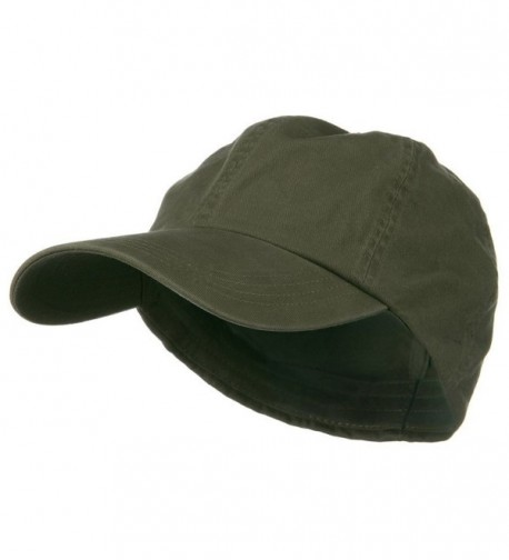 Cotton Twill Big Size Fitted Cap - Olive (For Big Head) - CO1173OY2B1