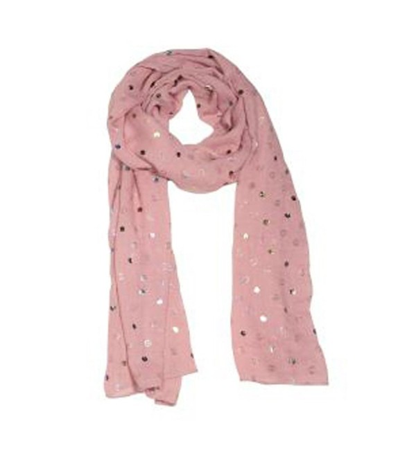 Lustrous Dots Silky Woman's Scarf - Rose - C212NFD54E1