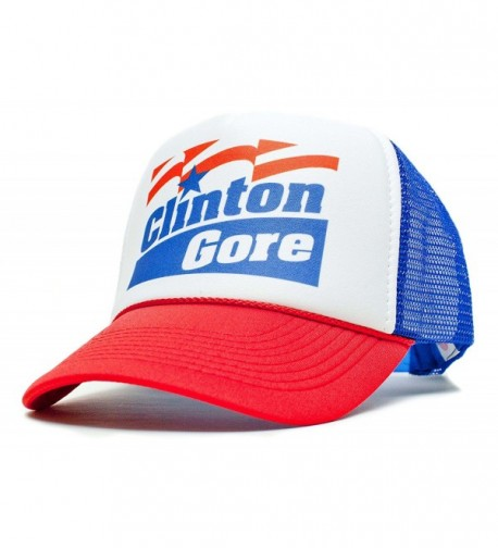 Clinton Gore Unisex-Adult Trucker Hat -One-Size Curved Bill Truckers - Clinton_gore_ryl_red_curv - CL1256M6CI7