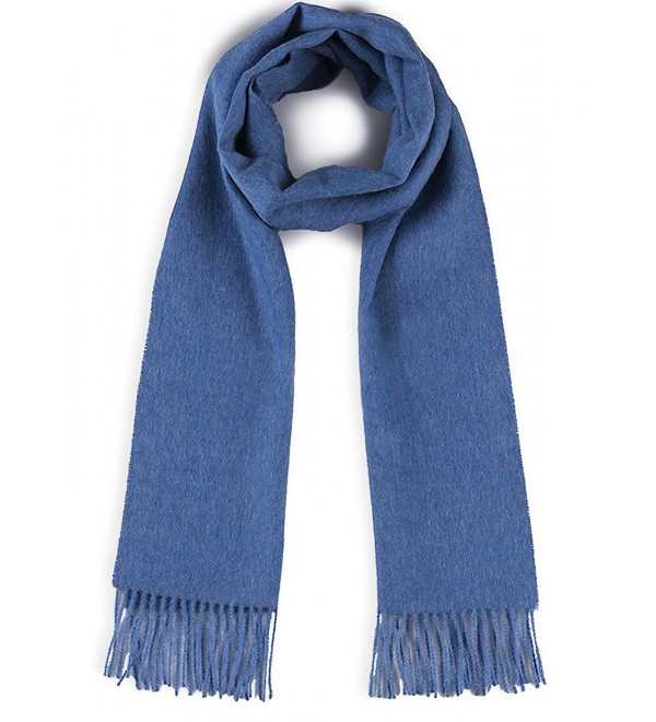 100% Pure Baby Alpaca Scarf - Bright Happy Solid & Natural Dye Free Colors - Blue Bird - CE180T4N59W