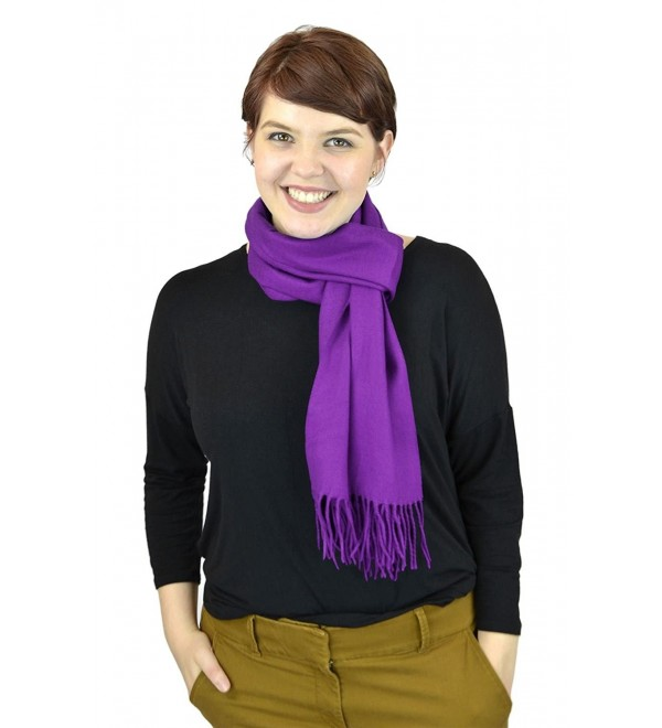 Belle Donne Women Scarves Girls Scarf Cashmere Feel Scarves Winter Solid Scarves - Violet-ii - CA12NSPURHU