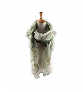 ctshow Fashion Scarves classic Lace Print Shawl Wrap For Women - Green - CQ182KHLH5Z