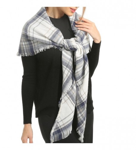 Blanket Scarf Poncho Plaid Women